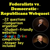 Federalists vs. Democratic-Republicans Webquest (Compariso