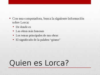 Federico Garcia Lorca Powerpoint