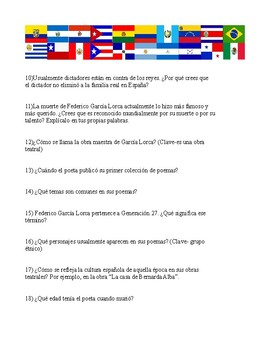 Federico García Lorca Webquest