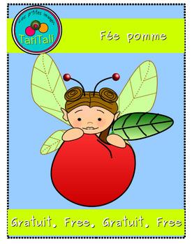 Fée pomme:  Clip arts gratuit-   apple fairy: free  clipart