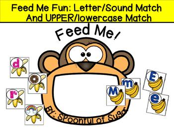 Feed Me Fun: Upper/lowercase Match and Letter/Sound Match