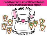 Feed Me Fun: Upper/lowercase and Letter/sound Matching