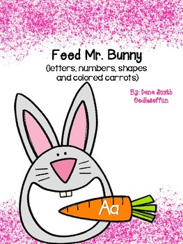 Feed Mr. Bunny (upper/lower case letters, numerals, shapes and colors)