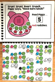 Feed Piggy:  A Colors And Counting Adapted Book
