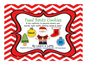 Feed Santa Craftivity (Sight Word, Spelling Word, & Letter/Sound Practice)
