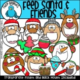 Feed Santa and Friends Clip Art Set - Chirp Graphics
