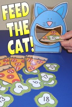 Feed The Cat Centers Literacy Math Activities Shapes Colors Subitizing CVC Words