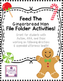 Feed The Gingerbread Man File Folder Activities