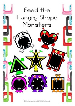 Feed The Hungry Shape Monsters - Maths Center