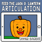 Feed The Jack O' Lantern Articulation Boom Cards | Speech Therapy Halloween