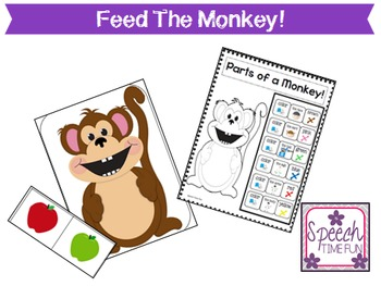 Feed The Monkey!  (Great for students with Autism, ABA, and more!)