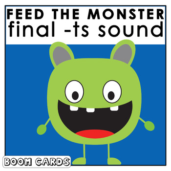 Feed The Monster Final -ts |  Boom Cards | S Sound Articulation | Speech Therapy