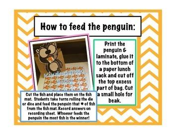 Feed The Penguin Math Center