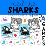 Feed The Sharks- Quadrilateral Sorting Game
