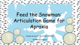 Feed The Snowman Game for Articulation Practice