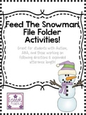 Feed The Snowman! (Great for students with Autism, ABA, an