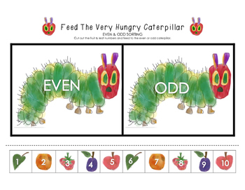 Feed The Very Hungry Caterpillar - Even & Odd Sorting