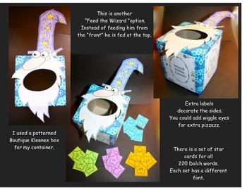 Feed The Wizard Sight Word Game and Activities