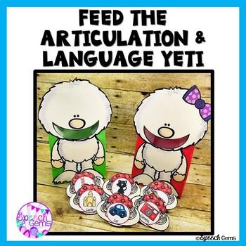 Feed The Yeti Articulation & Language Activity