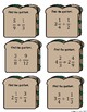 Feed Your Brain! 12 Cards for Math Centers to Practice Dividing Fractions