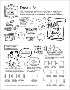 "Feed a Pet - Girl Scout Brownies - ""Pets"" Activity Pack (Step 5)"