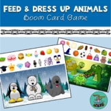 Feed and Dress Up Animals: Boom Card Game for Speech Thera