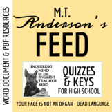 Feed by M.T. Anderson - Pages 1-59 Quiz (Word Doc, Google Doc & PDF)