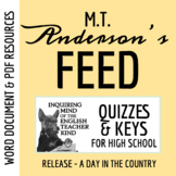 Feed by M.T. Anderson - Pages 60-121 Quiz (Word Doc, Google Doc & PDF)