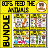 Feed the Animal Mouths GIFs l Insects and Animals Bundle l