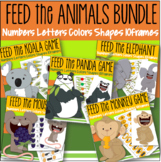 Feed the Animals Bundle of 5 - Numbers 10-frames Shapes Co