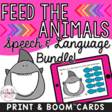 Feed the Animals Speech & Language BUNDLE! Print & Digital!