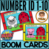 Feed the Animals l Number Identification 1-10 l BOOM CARDS