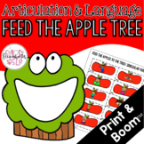 Feed the Apple Tree Articulation and Language! Digital & Print!