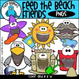 Feed the Beach Friends PNG Clip Art Set - Chirp Graphics
