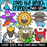 Feed the Beach Friends PNG and GIF Clip Art Set - Chirp Graphics