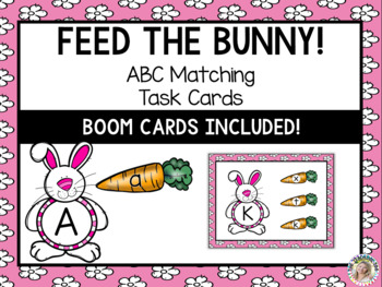 Feed the Bunny!  Alphabet Uppercase & Lowercase Matching - A to Z