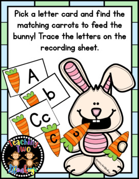 Feed the Bunny Letter Matching and Name Spelling Activity