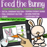 Feed the Bunny: Phonological Process Boom Card Distance Le