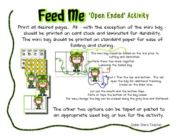 Feed the Bunny Rabbit Activity - Letter Number Shape Color Sight Word - Easter