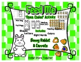 Feed the Bunny Rabbit Activity - Letter Number Shape Color