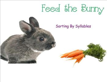 Feed the Bunny! Sorting by Syllables