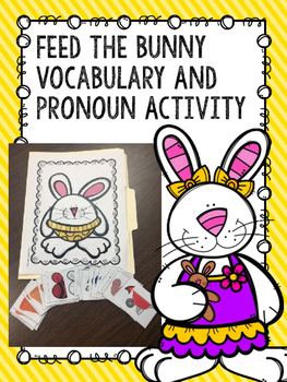Feed the Bunny Vocabulary and Pronoun Activity