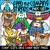 Feed the Camping Friends GIF and PNG Clip Art Set