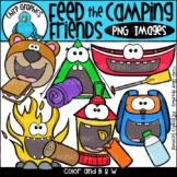 Feed the Camping Friends PNG Clip Art Set