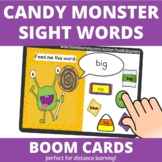Feed the Candy Monster Sight Words BOOM Cards (distance learning)