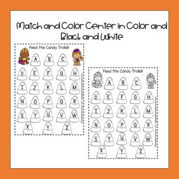 Halloween Preschool and Kindergarten Literacy Center