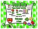 Feed the Caterpillar Activity - Letter Number Shape Color Sight Word - Spring