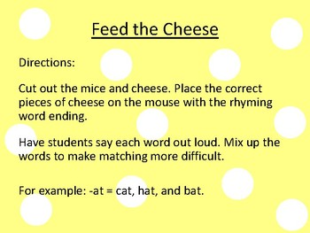 Feed the Cheese