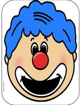 Feed the Clown File Folder Activities FREEBIE