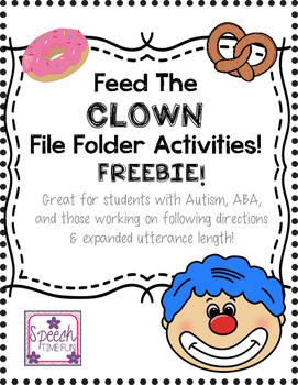 Feed the Clown File Folder Activities FREEBIE